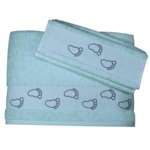 Σετ βρεφικές πετσέτες Footprint