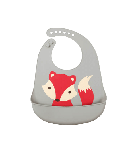 Σαλιάρα Σιλικόνης Με Θήκη - Kiokids Fox