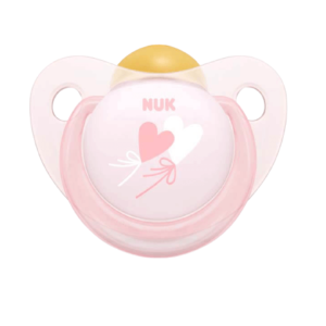 Nuk Πιπίλα Καουτσούκ Baby Rose Hearts
