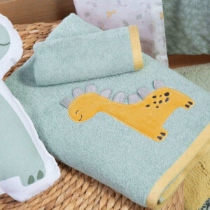 NEF-NEF Σετ Βρεφικές Πετσέτες Baby Dino (2 Τεμάχια)